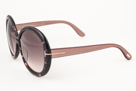 Tom Ford Gisella Brown Marble / Brown Gradient Sunglasses TF388 50F - £112.17 GBP