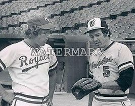 Brooks Robinson George Brett EOS Vintage 8X10 BW Baseball Memorabilia Photo - $6.99