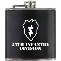 Army 25th Infantry Division Vietnam Veteran Soldier Groomsman Gift Leather Flask - $19.79