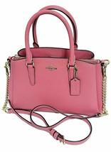 NWT COACH Mini Sage Carryall Tote Shoulder Bag Crossbody Pink Ruby Gold ... - $154.44