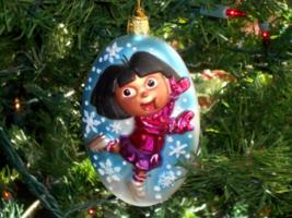 "Kurt Adler DORA Glass Polonaise Christmas Ornament Oval Snowflakes Large 5"" - $12.00"