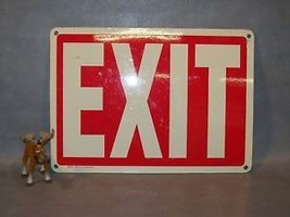 EXIT Plastic Sign Emedco Glow in the dark - $40.17