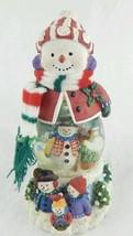 San Francisco Music Box Co. Clear Snowman Water... - $12.99