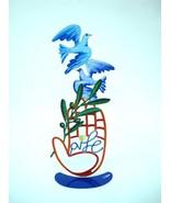 Hamsa Shalom Dove Metal Sculpture BY David Gerstein MODERN ART - $99.10