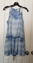 New Anthropologie Cloth & Stone Plaid Chambray Romper Size SMALL - $45.54