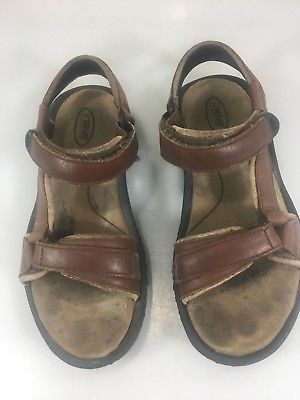 4c6ce98ff5101 Teva Womens 6 Universal Diamond Brown Leather Sport Sandals 5328 Slingbacks