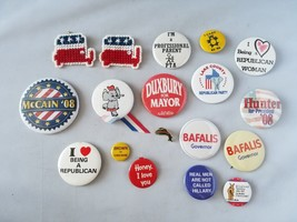 Politique Boutons Broches Assortiment de Lot Vintage Government États-unis - $34.17