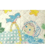 "Blue Birds HUSH A BYE BABY Quilt Bucilla Cross Stitch Finished 28 x 40"" ... - $54.40"