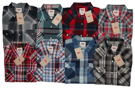 Levis Men's S/S and L/S Snap Button Up Multi-Color Shirts Short and Long... - $19.55+