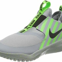 Nike Flex Runner slip on Shoes Green/Gray youth Size 7Y/womens 8.5 BV1645-002 - $54.44