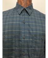 Patagonia Mens M Blue Plaid Pima Organic Cotton Long-Sleeve Shirt NEW Br... - $47.06