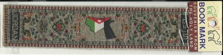 Bookmark Holy Land Jordan Souvenir Fabric Book Mark Religion Christianity Map