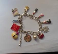 Vintage Avon 125th Anniversary Silver-tone Enamel Charm Bracelet - $44.55