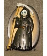 Halloween Grim Reaper Skeleton with a Scythe Resin Magnet - $3.99