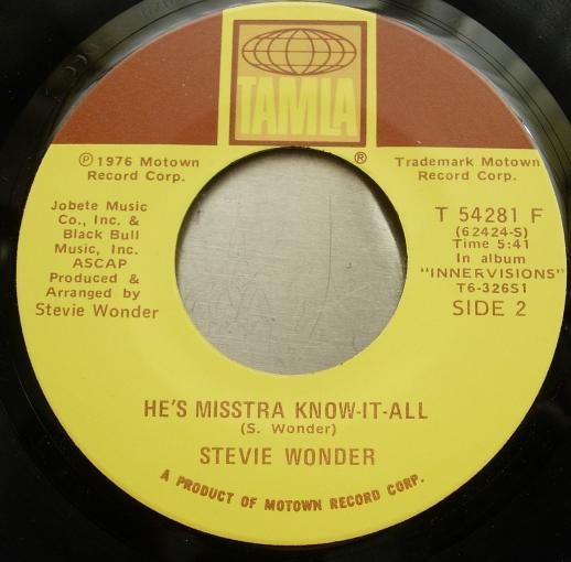 Stevie Wonder - Sir Duke / He's Misstra Know-It-All - Tamia T 54281 F