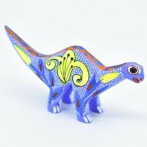 Handmade Alebrijes Oaxacan Wood Carved Folk Art Brontosaurus Dinosaur Figurine