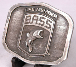 B.A.S.S. Life Member Belt Buckle-Fishing-Made in USA-Stamped-Vtg - $16.82