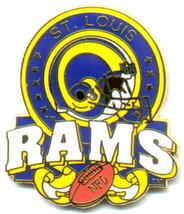 NFL Licensed Football Pin St. Louis Rams Team Pin - $5.00