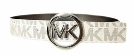 Michael Kors Women's Signature Reversible Circle MK Logo Belt 551342 image 9