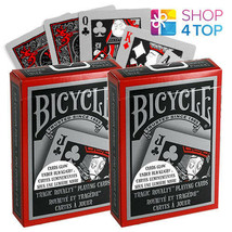 2 DECKS OF BICYCLE TRAGIC ROYALTY PLAYING CARDS GLOWS UNDER BLACK LIGHT ... - $14.87