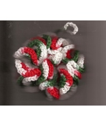 Bath Shower Puff & Wash Cloth Set Christmas Colors Hand Crafted in USA C... - $13.00