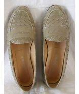 Bottega Veneta woven leather loafers pale dusty... - $29.95
