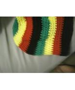 (10)Hand crocheted rasta colored beret/beanie/cap/hat/slouch/tam - $15.00