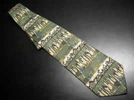 Structure Dress Neck Tie A Cityscape from Rural to Small City to Modern Silk - $10.99