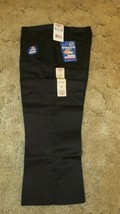 "DICKIES Girls Jr Black Uniform Capri Sz 11 Boot Cut Waist 34"" x Inseam 2... - $14.80"