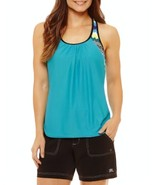 Zeroxposur Chevron Blouson Swimsuit Top Size 8, 10, 12 New Msrp $49.00 - $21.99