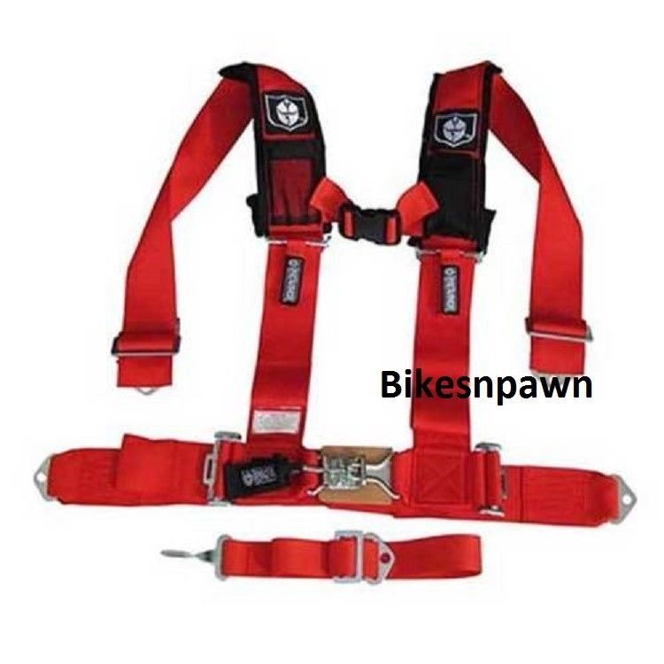 "New Pro Armor Red 5 Point Safety Harness Seat Belt RZR 3"" Pads A115230RD"