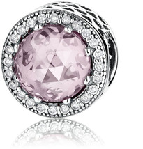 Radiant Hearts With Blush Pink Crystal And Clear CZ 925 Sterling Silver ... - $55.42