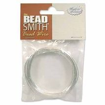German BEAD WIRE 14ga (1.5mm dia) SILVER PLATED Copper Core 1.8 meters (... - $6.23