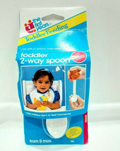 "Vintage 1991 Toddler 2-Way Spoon The First Years Toddler Feeding ""FREE S... - $9.99"