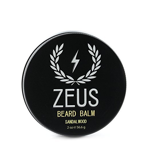 ZEUS Conditioning Beard Balm, Sandalwood, 2 Ounce