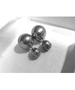 AUTH Christian Dior Mise En Dior Tribal Lace Silver Pearl Earrings LIMIT... - $429.99