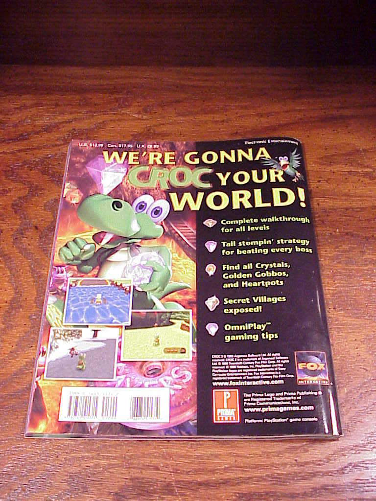 Croc 2 Prima's Official Player's Guide Book, for PCs, nice shape, Mel Odom