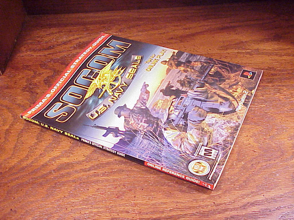SOCOM U.S. Navy Seals Prima Official Strategy Guide Book, for Playstation2, PS2