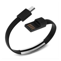 8 Pin USB To USB Cable Bracelet Data Sync Cord For iPhone 5, 5s, 6, 6s Black A11