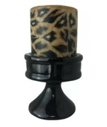 Can Briggle Studio Art Black Candle Holder Pottery Colorado Springs Signed - $31.68