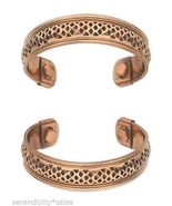 "SIngle COPPER MAGNETIC CUFF Bracelet w/ ""Therapy"" MAGNETS ~ Nice wi... - £5.52 GBP"