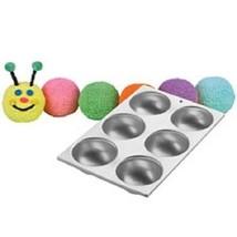 Wilton Mini Ball Mold 6 cavity Cake Pan Baseball, Sports, Ladybug, Head,... - $18.99