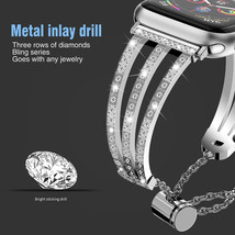 Treble Diamante Metal Watch Strap for apple iwatch1/2/3/4 Generations Vi... - $31.00