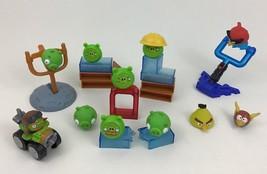 Angry Birds Building Game Toys Lot 25pc Set Blocks Rovio Hasbro Mattel B3 - $18.76