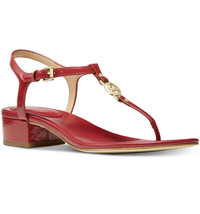 Nib Michael Michael Kors Cayla Mid Sandal - Scarlet Size 7.5M - $59.39