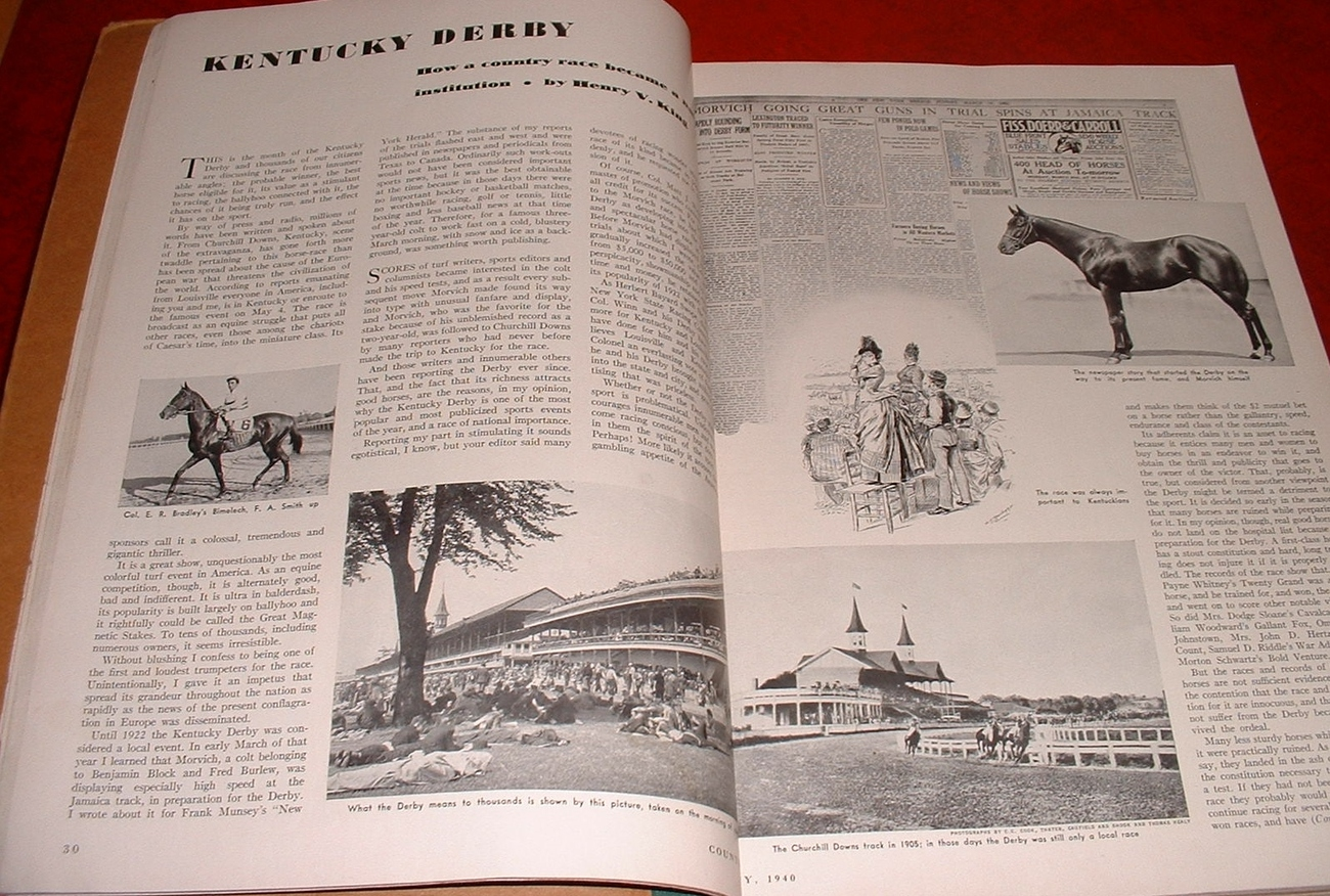 Country Life May-Oct 1940 Horses Sports Racing Furniture Outdoors Nature Ads