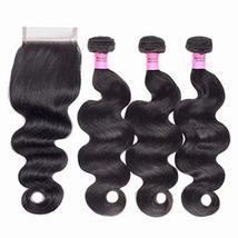 Body Wave Weave Brazilian Virgin Hair Bundles with Closure Unprocessed Brazilian image 8