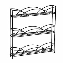 Black Wall Mounted or Countertop 3 Tier Spice Bottles Rack Jars Storage ... - £19.18 GBP