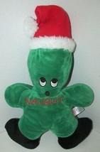Sugar Loaf Christmas plush naughty or nice green cactus plant tree Santa hat - $8.90
