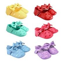 Baby Toddler Kids Girls Bowknot Prewalker Anti slip Soft Sole Shoe-in Fi... - $12.20